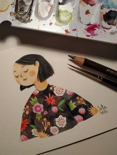Playing with watercolors and colored pencils Pattern Illustration, Pencil Illustration, Surface Design, Colored Pencils, Watercolors, Have Fun, Mixed Media, My Arts, Animation