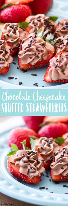 These No Bake Chocolate Cheesecake Stuffed Strawberries are an easy dessert recipe that takes only 6-ingredients to make! These chocolate cheesecake strawberries are pretty, sweet, and a perfect Valentine's Day dessert (and even a spring or summer dessert!). Plus, a video below!