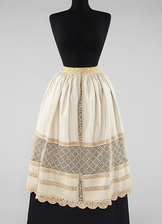 Apron / Date: fourth quarter 19th century Culture: Slovak Medium: linen