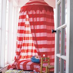 Home Sweet Play Home Canopy (Pink Stripe) #NodWishlistSweeps