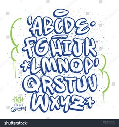 Find Handmade Graffiti Font stock images in HD and millions of other royalty-free stock photos, illustrations and vectors in the Shutterstock collection. Graffiti Lettering Alphabet, Graffiti Font, Graffiti Designs, Hand Lettering Fonts, Doodle Lettering, Creative Lettering, Lettering Styles, Graffiti Artists, Grafitti Letters