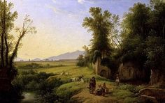 The Grove of Egeria (oil on canvas) by Franz Ludwig Catel