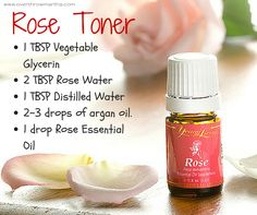 Rose water toner AND also a recipe for witch hazel toner (both for sensitive skin)