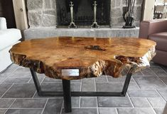 Reclaimed wood furniture and live edge tables made from fallen trees.  | Round Coffee Table