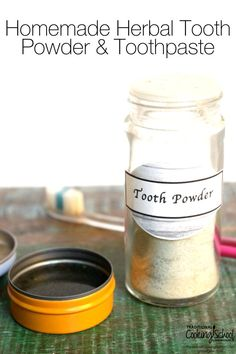 You might be thinking about making your own toothpaste because: Questionable ingredients in conventional products, the high price tag on natural alternatives, the satisfaction of doing it yourself, and knowing exactly what you are putting in your mouth. Here's a framework for both tooth powder and toothpaste. You'll be brushing your teeth with your own personal mix in a matter of minutes! | TraditionalCookingSchool.com