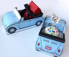 Retro VW Beetle/Bug Convertible Car Printable Favor Box. Great for weddings, birthdays, gifts, cupcakes... INSTANT download. $7.99