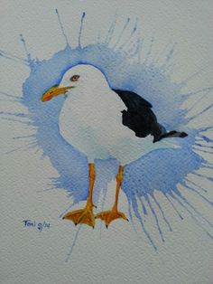 Meeuw 3 (17x25) watercolor 09/2014