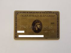 USA - AMERICAN EXPRESS - EXPIRED - CREDIT CARD - GOLD