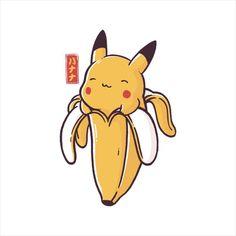 cb3d581b8 Bananachu Pikachu Pokemon Men's T-Shirt by eduely - Cloud City 7 Pokemon  Memes,