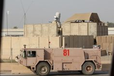 """USAF fire truck. This was at Baghdad a few months ago, and also got a shot of """"81"""" back in 2008"""