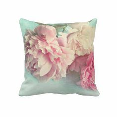 amazing shabby chic | pillow shabby chic pink peonies from Zazzle.com on Wanelo
