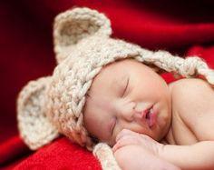 Mouse Baby Hats, Newborn Photo Props, Baby Boy Crochet Hats, Newborn Halloween Mouse Hat