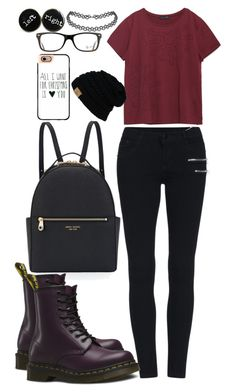 """""""Tomboy"""" by chap15906248 ❤ liked on Polyvore featuring Henri Bendel, Zara, Dr. Martens, Casetify and Ray-Ban"""