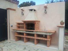 Imagen relacionada Entryway Bench, Oven Ideas, Bbq, Shelves, Pizza, Furniture, Garden, Home Decor, Entry Bench