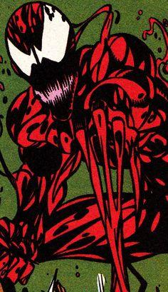 "comicbookvault: ""COMIC BOOK CLOSE UP C A R N A G E Amazing Spider-Man #362 (May 1992) Art by Mark Bagley (pencils), Randy Emberlin (inks) & Bob Sharen (colors) """