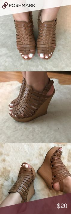 Mossimo Supply Tan Wedges Worn a couple of times but still in great condition, and very comfy! Mossimo Supply Co Shoes