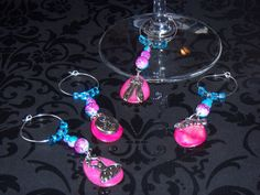 Handmade 4 piece Dance themed Wine Glass Charms by OurBeadedCharms, $14.99