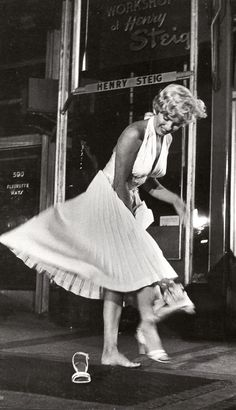 "Marilyn on the set of ""The Seven Year Itch"" 1954"