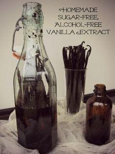 Homemade Sugar-Free, Alcohol-Free Vanilla Extract