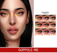 Colorful Eyeshadow Goppols Me Les Sims 4 Pc, Sims Four, Sims 4 Mm, Los Sims 4 Mods, Sims 4 Game Mods, Maxis, Sims 4 Mods Clothes, The Sims 4 Skin, Sims 4 Cc Eyes