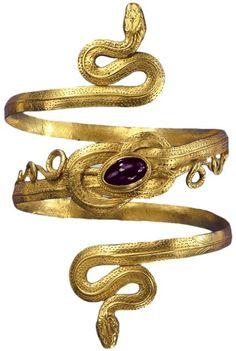 Ancient Greek gold bracelet.
