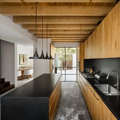 Mexican House Impresses with Exposed Wooden Ceiling Beams - InteriorZine Interior Design Examples, Scandinavian Interior Design, Interior Design Kitchen, Interior Design Inspiration, Interior Decorating, Inspiration Art, Interior Designing, Design Ideas, Mexican House