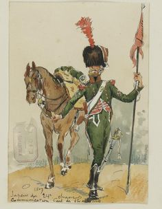 Sapeur of 24th Chasseurs a cheval, 1807  by Ernest Fort