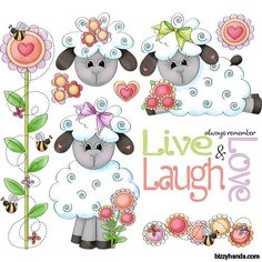 Always Remember  1 - Sheep Clip Art Designs Graphics Illustrations Doodles Artwork Instant Digital Download, Commercial Use Allowed by BizzyHandsCreations on Etsy