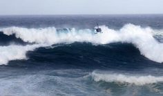 Huge swell at Waimea Bay