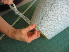 glue ribbon to top