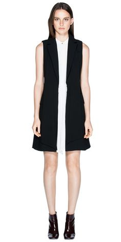 CUE - Crepe Sleeveless Jacket