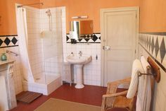 Modern old french styled bathroom.
