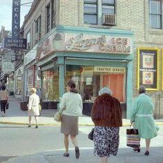 New York City street scene, 1969