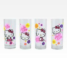 Hello Kitty 4-Piece Glasses Set: Stars