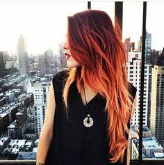 Resultado de imagem para red degrade hair