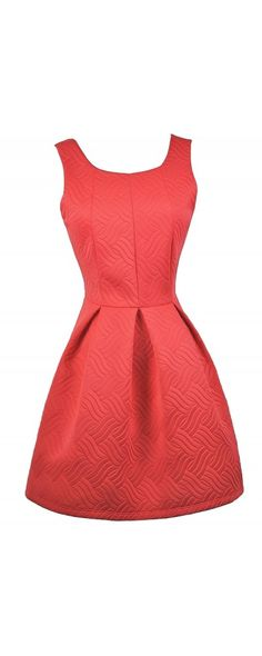 Lily Boutique Quilted A-Line Bow Back Dress in Bright Red, $40 Red A-Line Dress, Cute Red Dress, Cute Holiday Dress, Red Bow Back Dress, Red Bridesmaid Dress www.lilyboutique.com