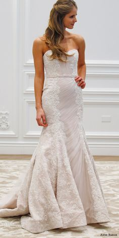 uxembourg strapless mermaid wedding dress shirred tulle beaded chantilly alencon lace runway front
