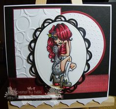 Sugar Nellie - Strike A Pose from funkykits.co.uk coloured with #promarkers