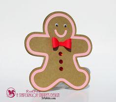 My hobby My Art: Galleta de jengibre Tarjeta para tarjetas de regalos, perfecta para Navidad! #Gingerbread cookie #Giftcardholder #Cards