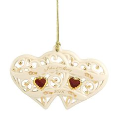 Two Hearts, One Love Ornament