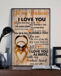 Perfect Gifts For Husband - To My Husband Poster Great Gifts For Wife, Gifts For Fiance, Love Gifts, Thank You Gifts, Gifts For Him, Best Gifts, Husband Love, To My Daughter, Diy Birthday