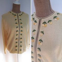 Lemon embroidered wool cardigan 1950s Outfits, Wool Cardigan, Lemon, Clothing, Outfits, Clothes, Outfit Posts, Vestidos, Kleding