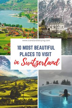 amazing natur Looking for the most beautiful places in Switzerland These are the must-see amazing destinations in Switzerland Switzerland Destinations, Places In Switzerland, Europe Destinations, Amazing Destinations, Honeymoon Destinations, European Travel Tips, Europe Travel Guide, Travel Guides, Travel Advice