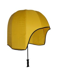 The Rainshader resembles a large helmet that shields all of your upper body but leaves a convenient open viewing area in the front. This umbrella maximizes your space while staying out of everyone else's way.