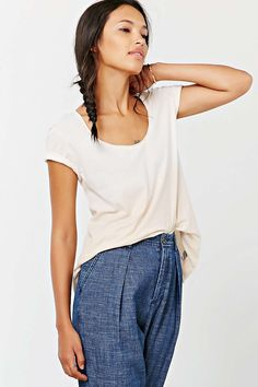 Truly Madly Deeply Sun Faded Scoop-Neck Tee - Urban Outfitters