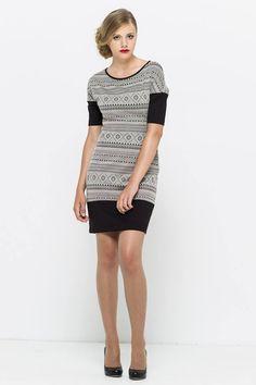 sukienka black&white VISSAVI