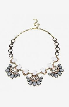 Chain Link Floral Necklace