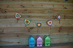 Haken, crochet, slinger. bunting, zelfmaken, diy, watdoetvanessanu