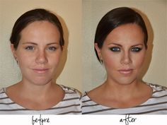Makeup tips! Holy crap I need this...she doesnt even look like the same girl!