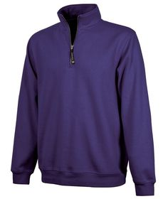 Charles River Quarter Zip Sweatshirt - Purple